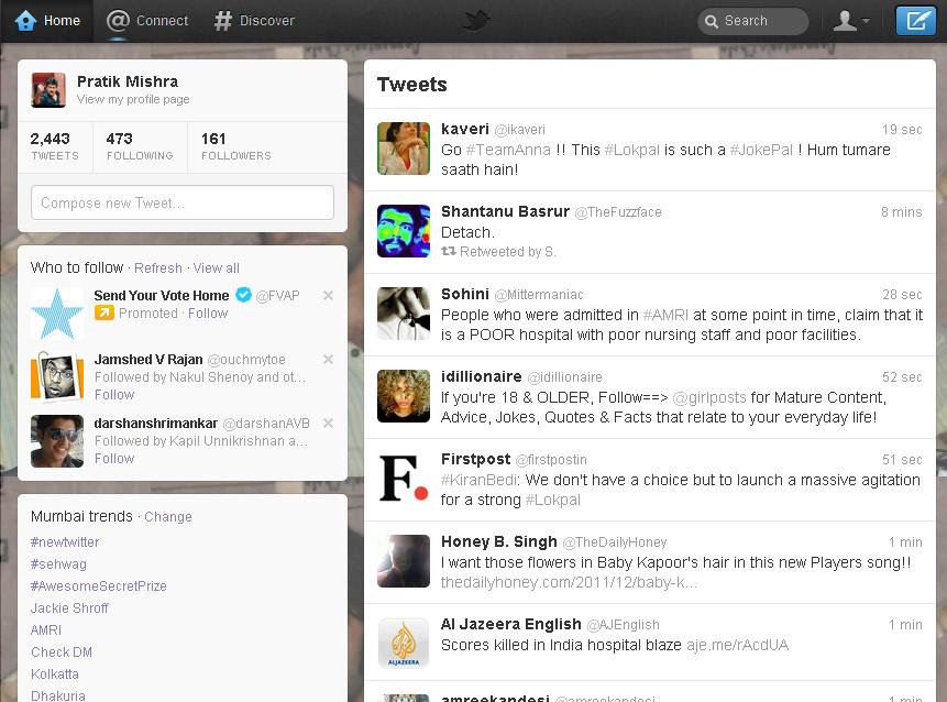 Twitter Home - Social Samosa