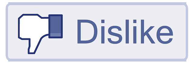 Facebook dislike, Facebook, dislike