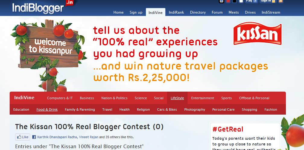 Indiblogger Kissanl Blogger Campaign