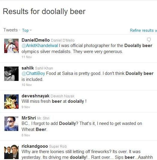 Doolally Beer