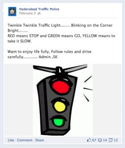 Hyderabad Traffic Police FB Page