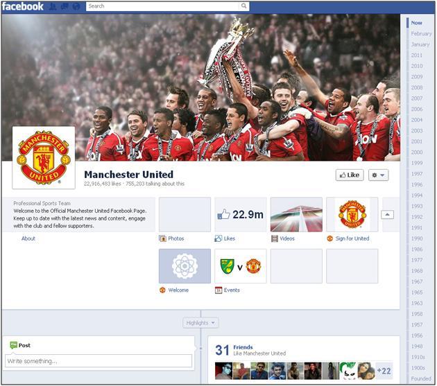 Manchester United - Facebook Timeline
