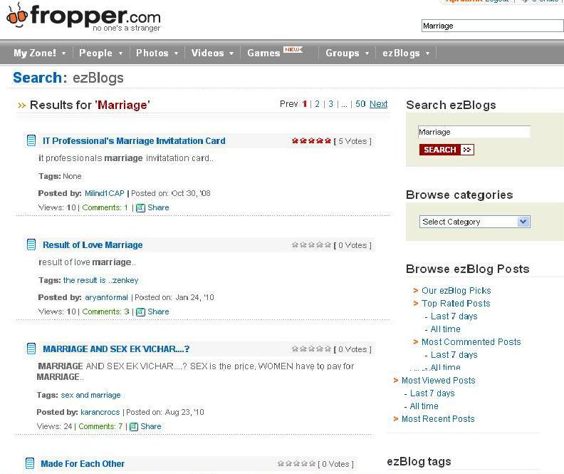 Fropper dating login