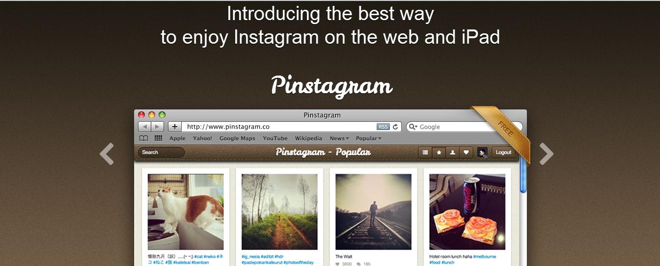 Pinstagram, Instagram, Pinterest, Pinstagram for iPad