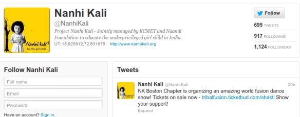 Nanhi Kali Twitter Account