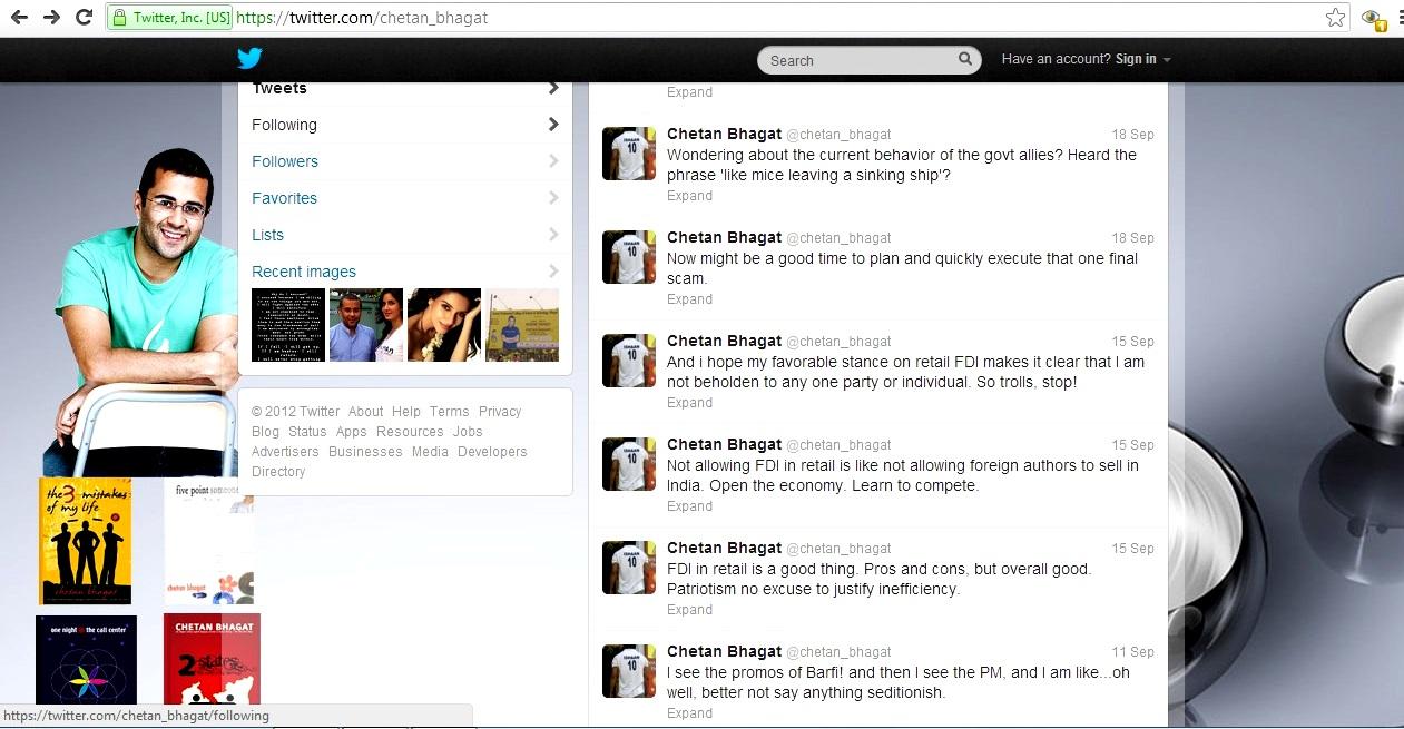chetan bhagat twitter