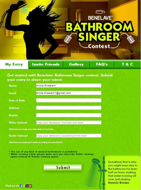 benelave bathroom singer