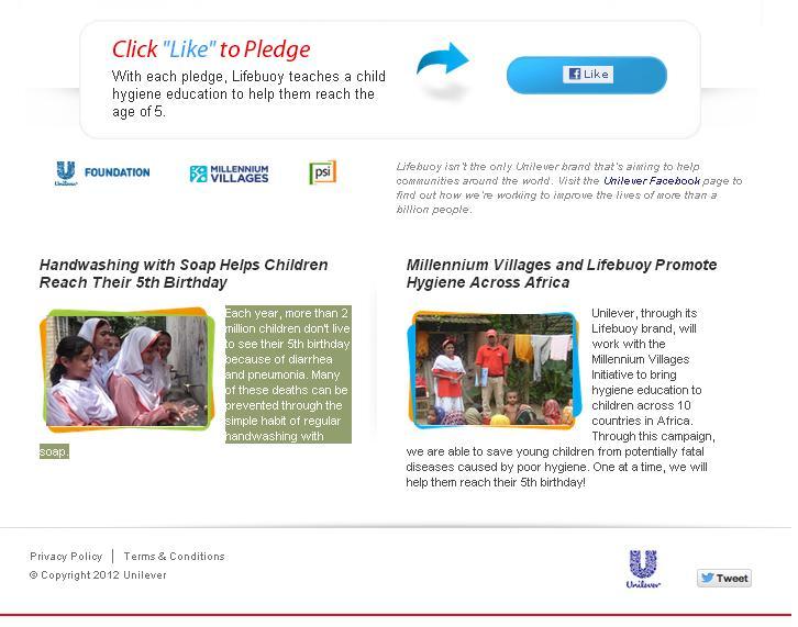 lifebuoy click like to pledge
