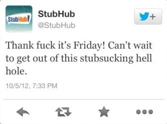 stubhub offensive tweet