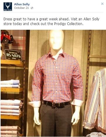 Allen Solly Facebook page