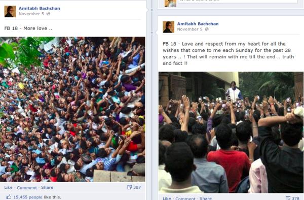 Amitabh Bachchan Facebook Updates