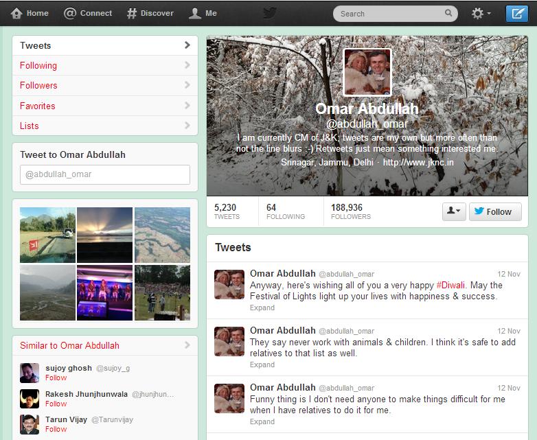Omar Abdullah Twitter Account