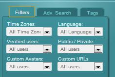 SocialBro -filters