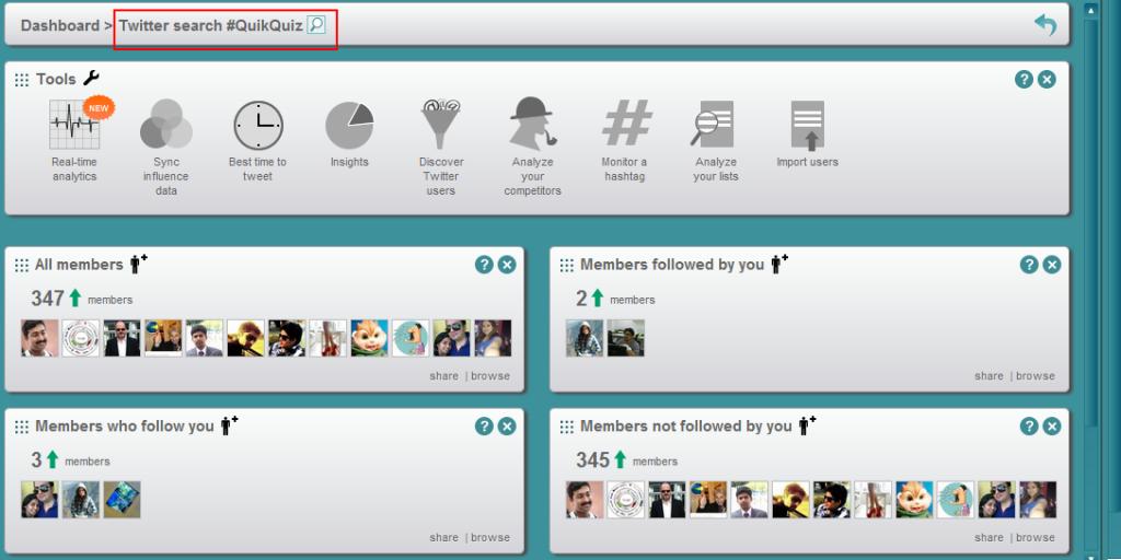 SocialBro monitoring hashtag
