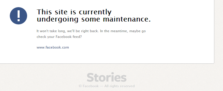 facebook stories site maintenance