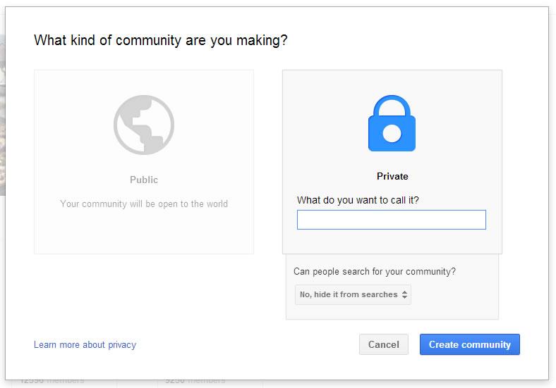 google plus community setup