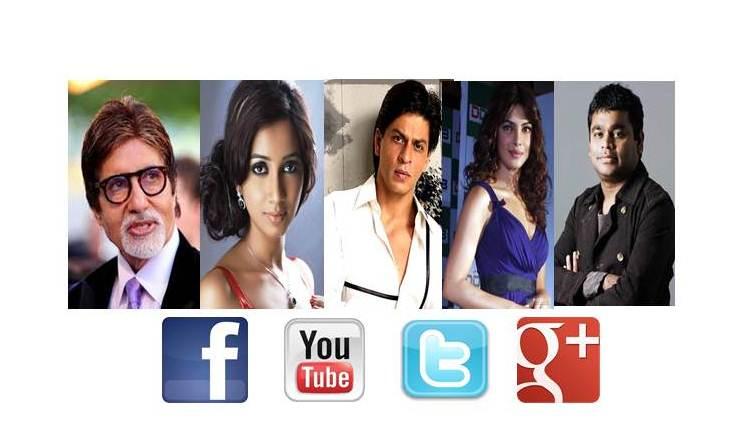 indian celebrities on Social media