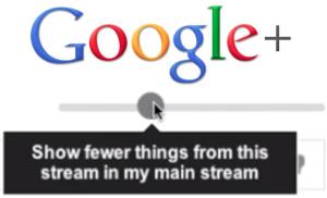 google plus volume slider
