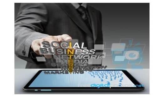 Social media Lettering on a tablet screen