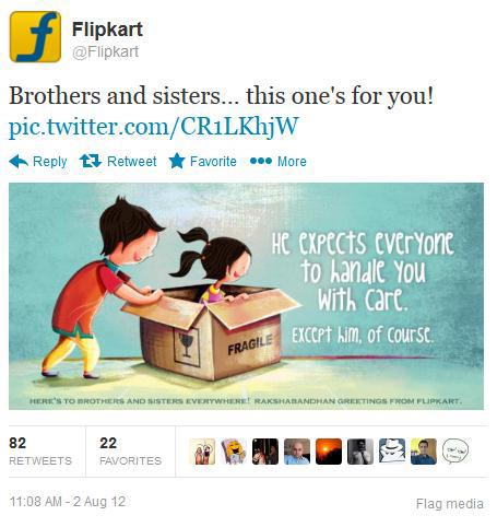 Flipkart tweet
