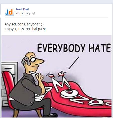 Just dial facebook content