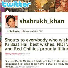 shahrukh khan twitter
