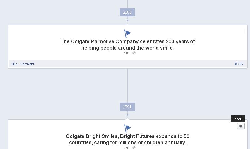 Colgate India Facebook timeline