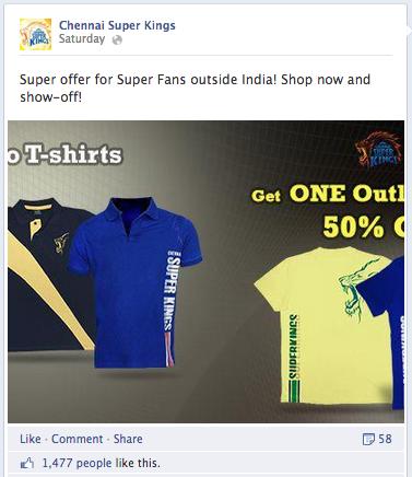 Merchandise sale CSK