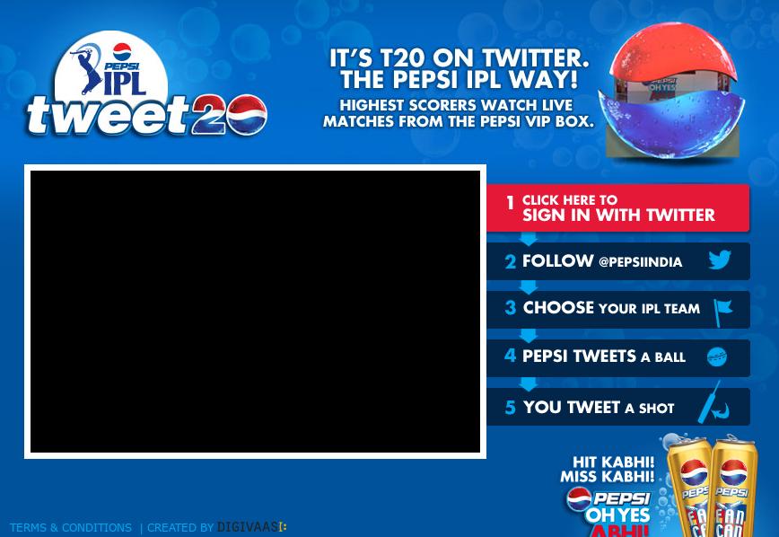Pepsi IPL Tweet 20