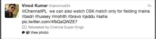 fan tweet CSK