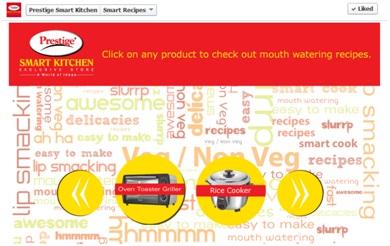 Social Media Campaign Review: Prestige Smart Kitchen Smart Recipes facebook 1