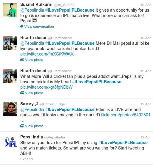 pepsi hashtag contest
