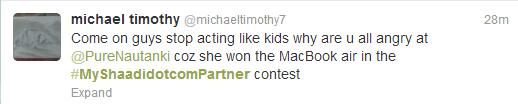 shaadidotcom twitter contest