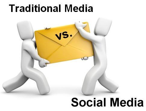 social media v's traditional media