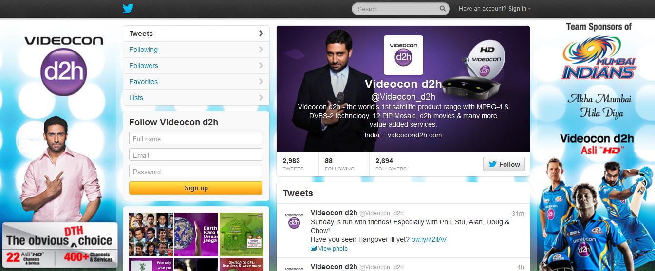 Twitrer profile