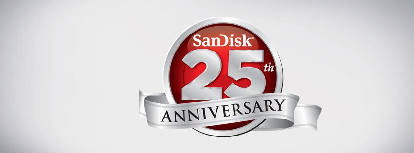 sandisk 25 years celebration