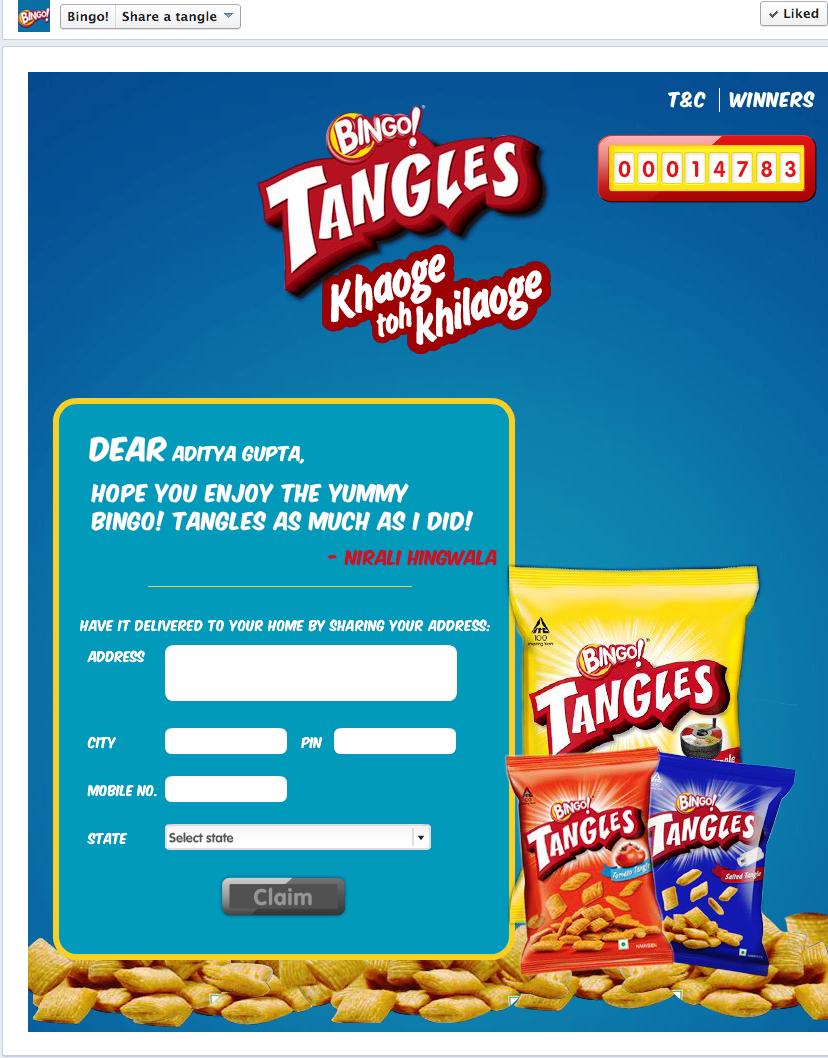 Bingo! tangles social media campaign