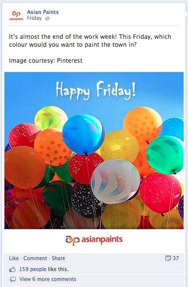 Asian Paints Facebook Post