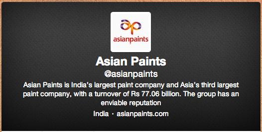 Asian Paints Twitter Profile
