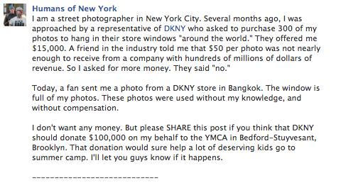 DKNY Facebook post