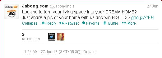 Jabong.com tweets