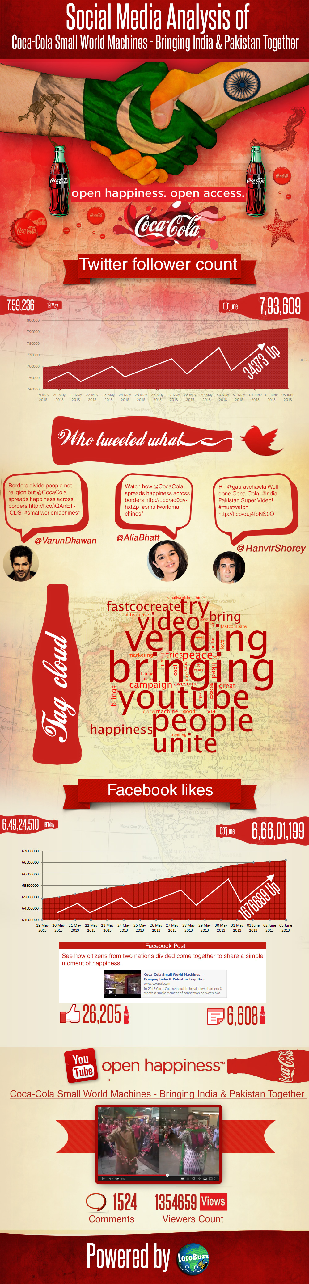 Social Media Analysis Coca Cola Infographic
