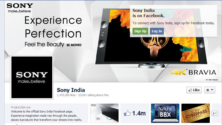 Sony Vaio BBX Social media Campaign