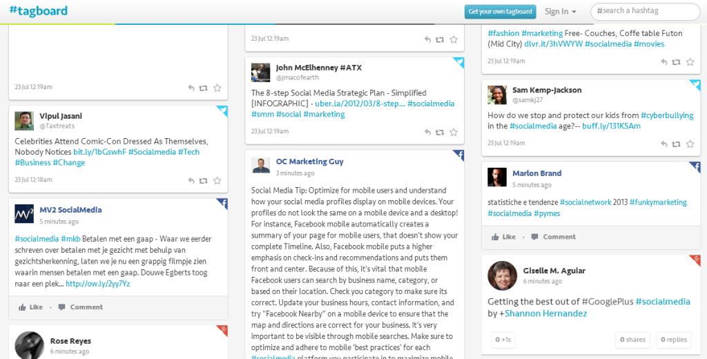 tagboard hashtag monitoring tool