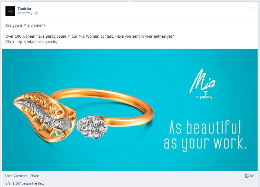 Facebook Engagement post Tanishq