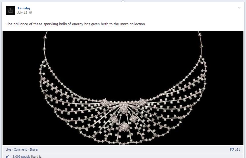 Facebook post Tanishq