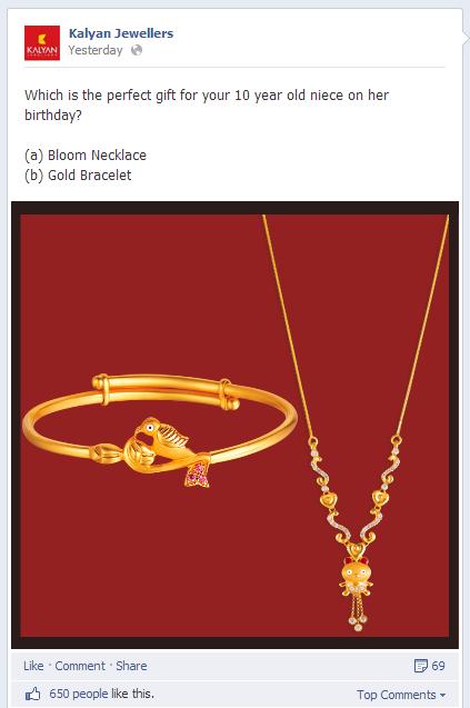 Kalyan Jewellers Facebook Post