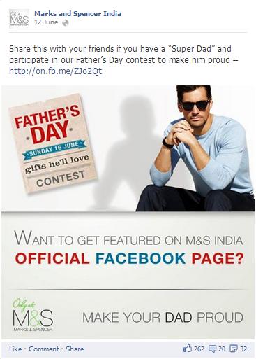 Marks and Spencer Facebook Post