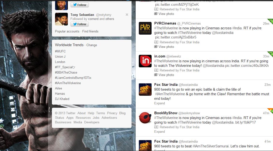 Wolverine twitter trend