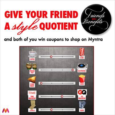 myntra.com friends wth benefits